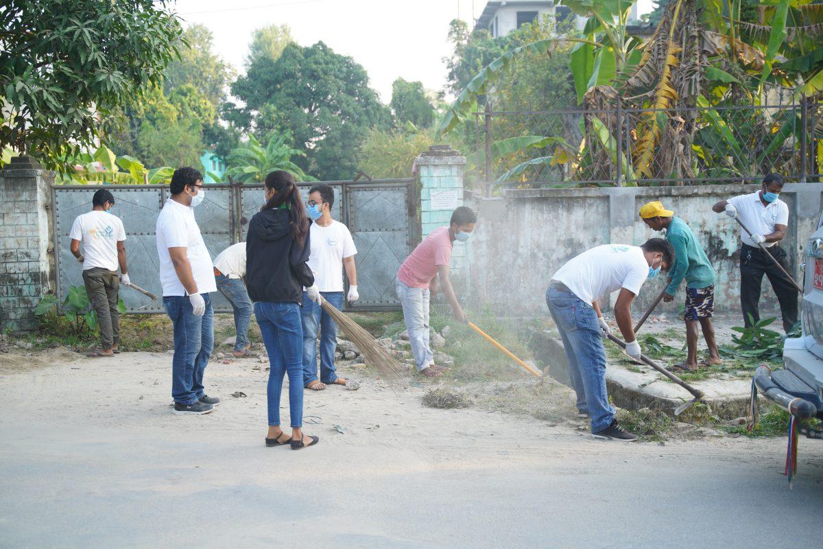 Dinesh Foundation Sanitation program at Bandevi Temple