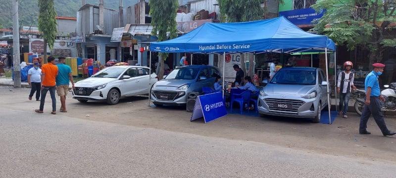 Hyundai Roadshow Program at Dadeldhura on 6th September 2021